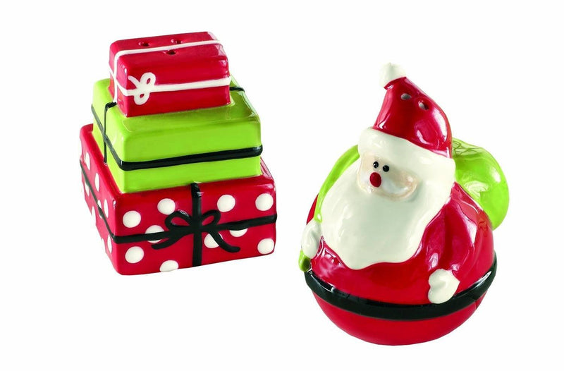 Tag Whimsy Santa and Present Salt and Pepper Shaker