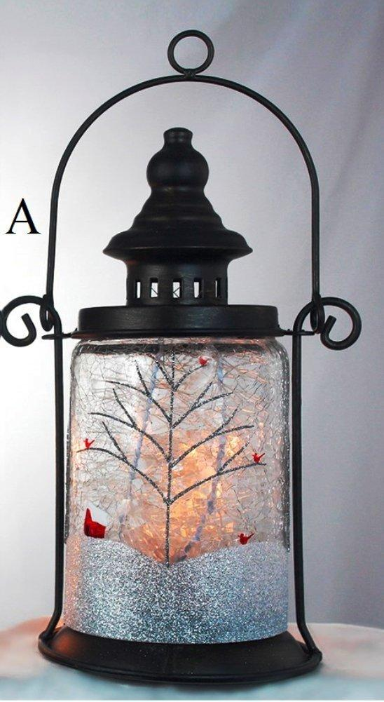 Stony Creek Clear Winter Collection Lighted Glass & Metal Lantern, Choice of Style