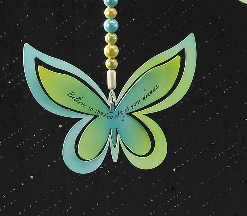 Metal Hanging Adornment or Ornament -Believe Butterfly by Giftcraft - Gift Craft