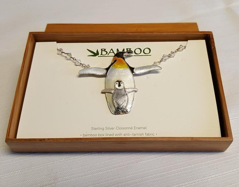 Bamboo Jewelry Penguin Necklace