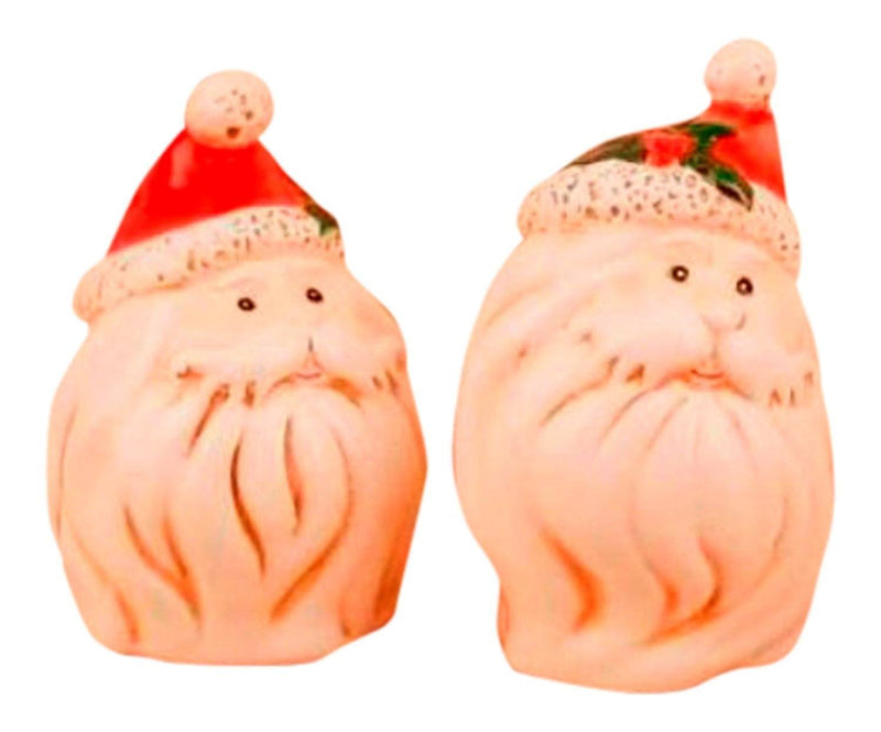 Young's Ceramic Santa Salt and Pepper Set, 3.5-Inch