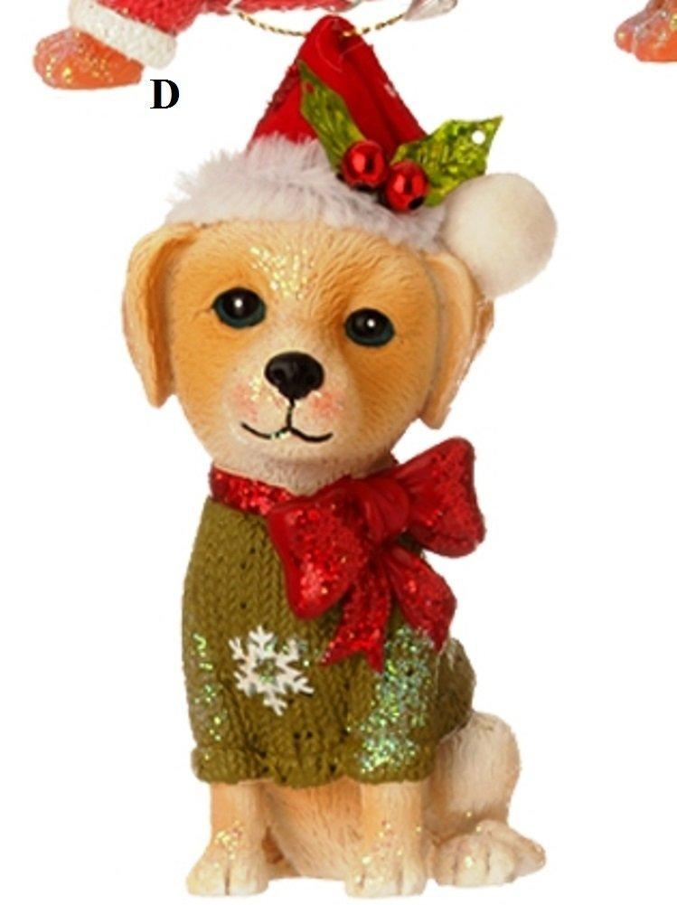 RAZ Night Before Christmas, Dog Ornament, Choice of Style, D