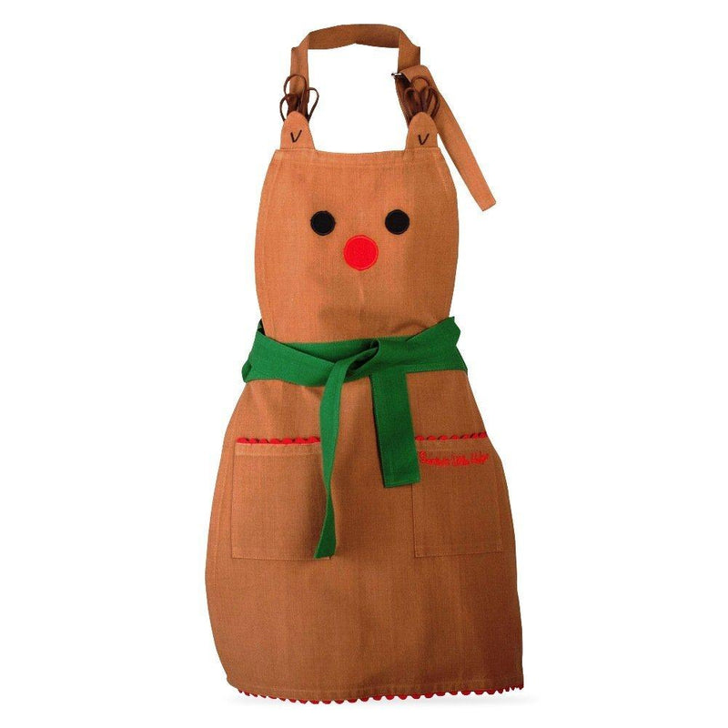 TAG Chirstmas Collection Brown Winter Whimsy Reindeer Cotton Apron - TAG