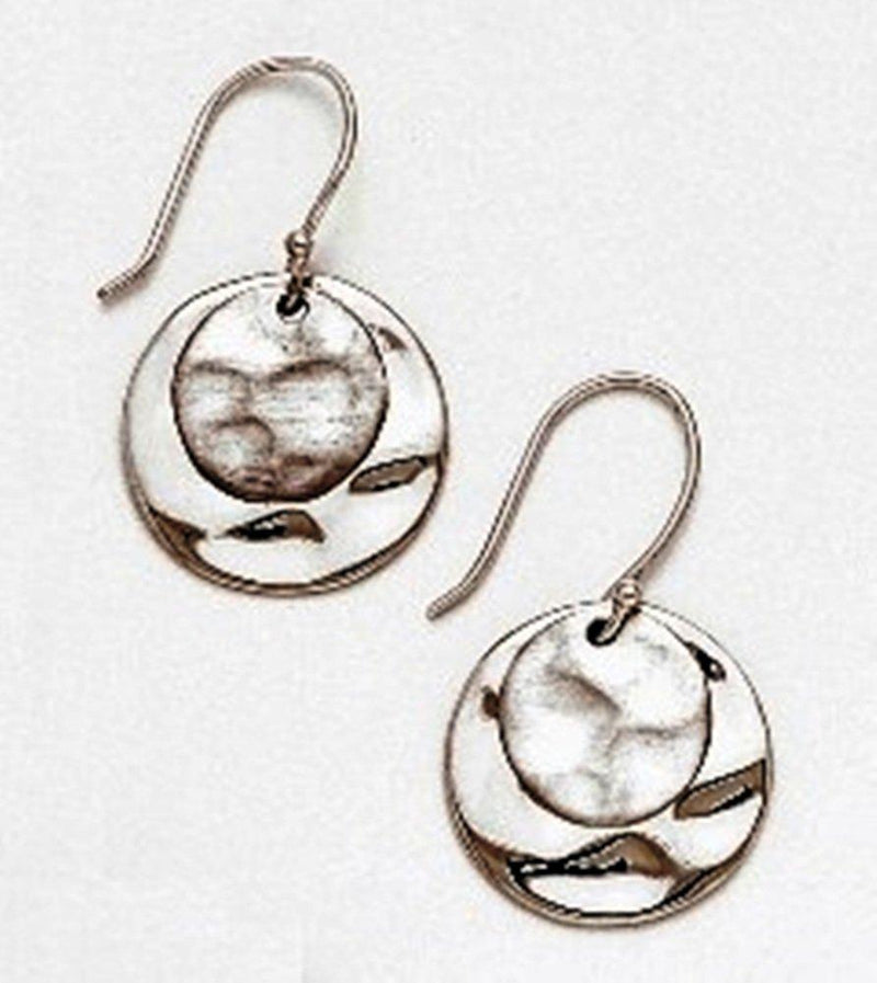 Baroni Designs Hammered Sterling Silver Round Earrings