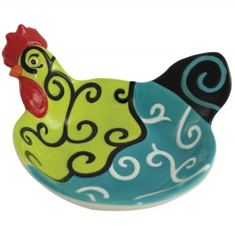 2.25 Inch Whirl of Swirls Decorated Collectible Rooster Appetizer Bowl