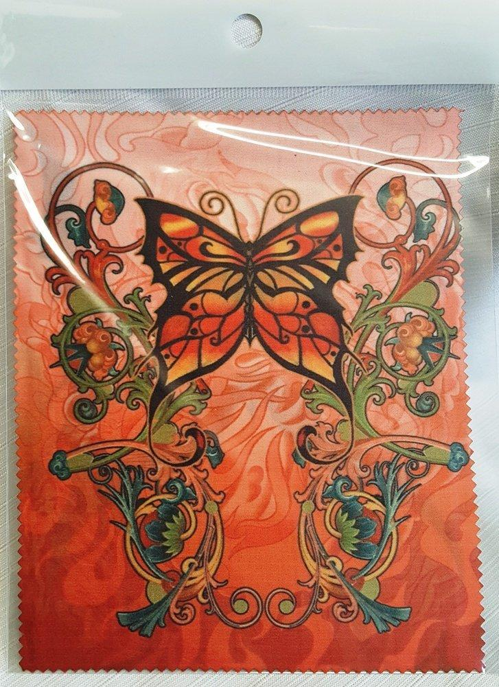 Melbert Microfiber Cleaning Cloth, Made in the USA, Bold Butterfly