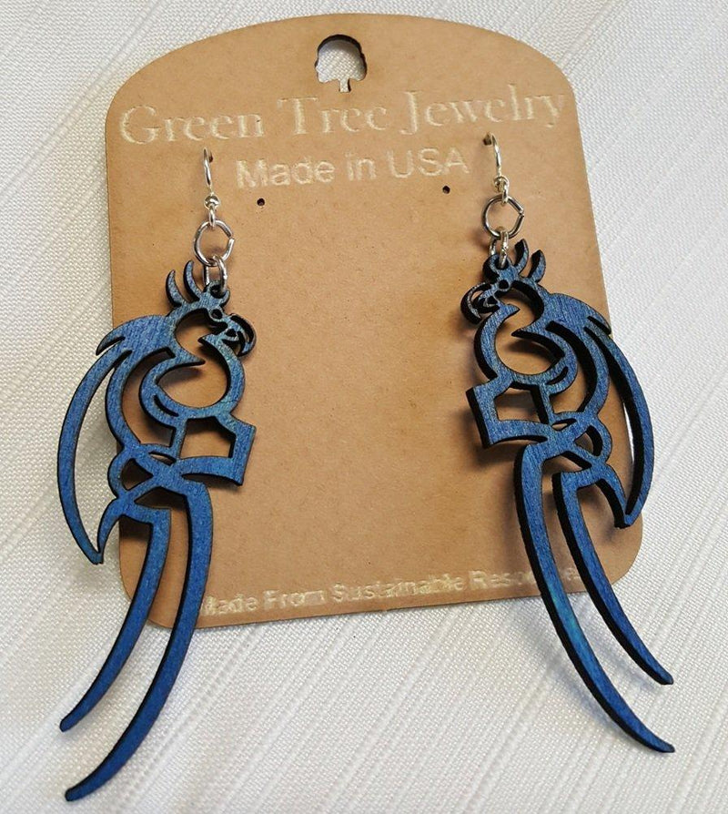 Tattoo Parrot Earrings by Green Tree Jewelry, Made in the USA