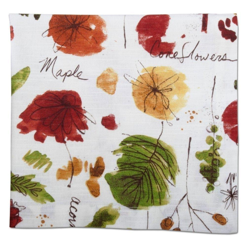 TAG Fall Collection Watercolor Sketches Cotton Napkin, Set of 4