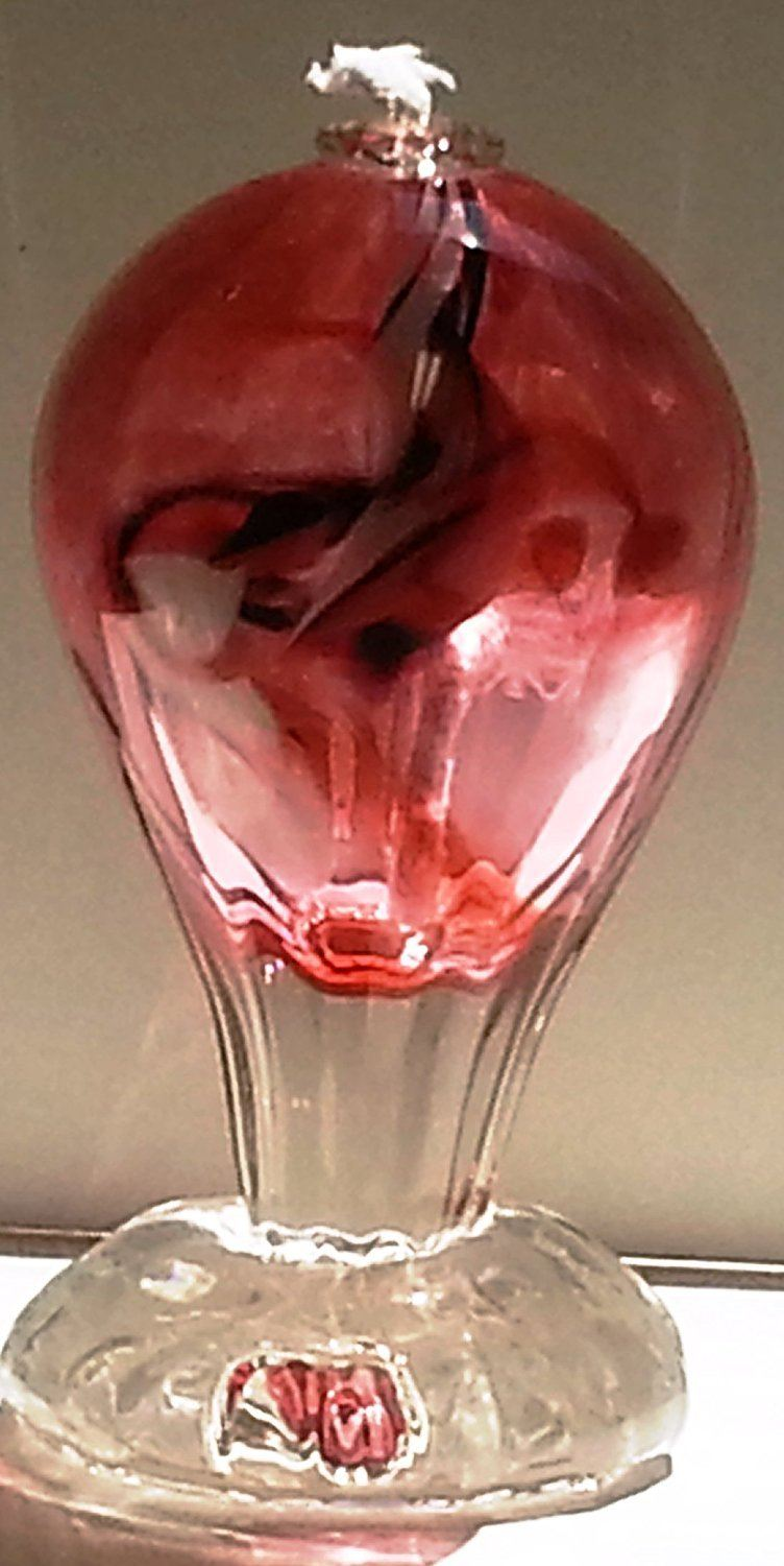 DBR Glassworks Hand Blown Glass Optic Oil Lamp, Made in the USA
