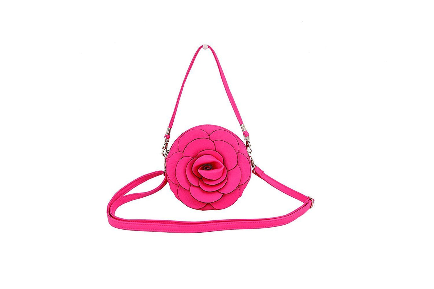 Youngs Victoria Leland Designs Hot Pink Flower Cross Body Wristlet