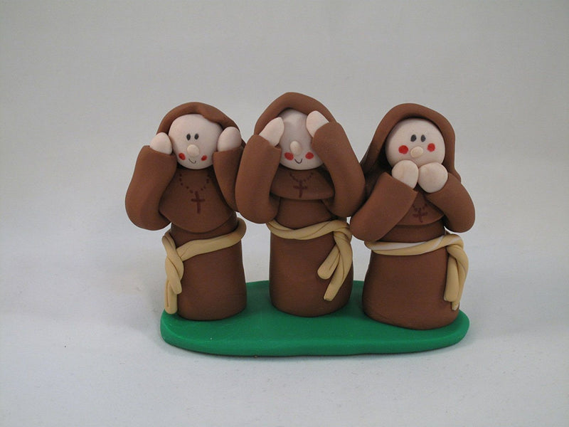 Friar Trio, Hear No, See No Speak No Evil by GP Originals, Handmade in the USA - GP Originals