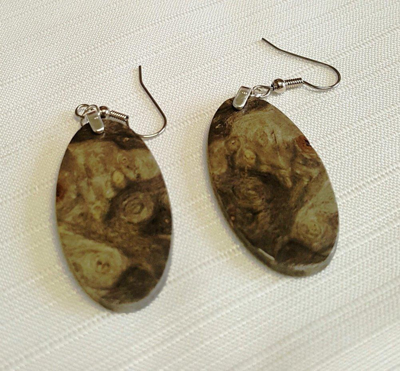 Forest Life Creations Handmade Earrings, Buckeye