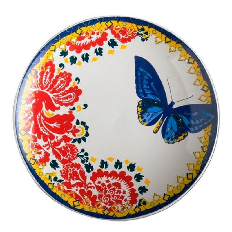 TAG Blue Butterfly Luncheon Plate, Set of 4