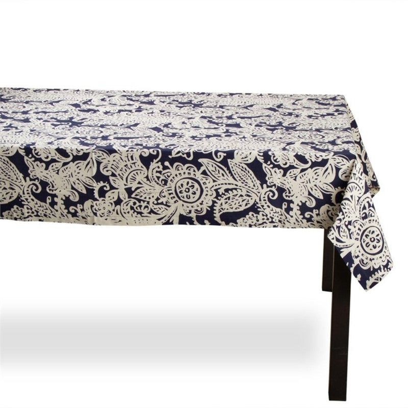 TAG Living Collection Indigo Paisley Tablecloth