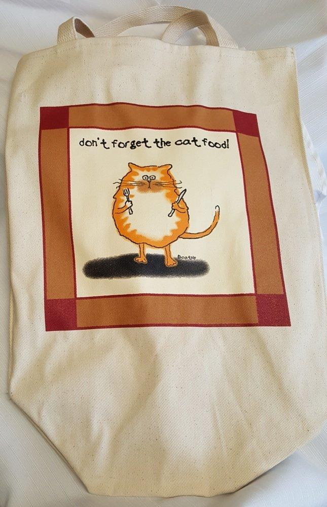"Plum Tote, ""Don't Forget the Cat Food"""