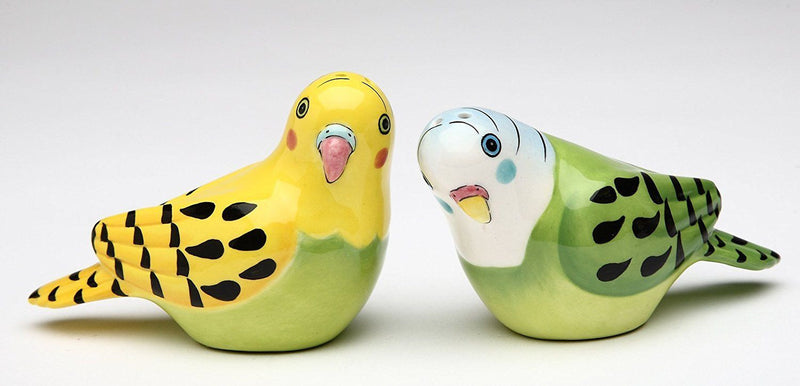 Appletree Ceramic Yellow and Green Parakeet Salt and Pepper