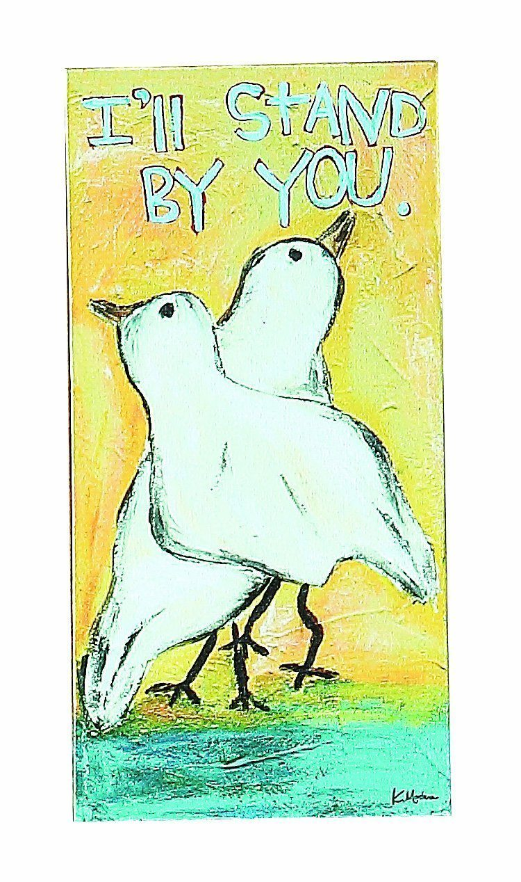 "Creative Co-Op Wonderland ""Stand By You"" Canvas Sign"