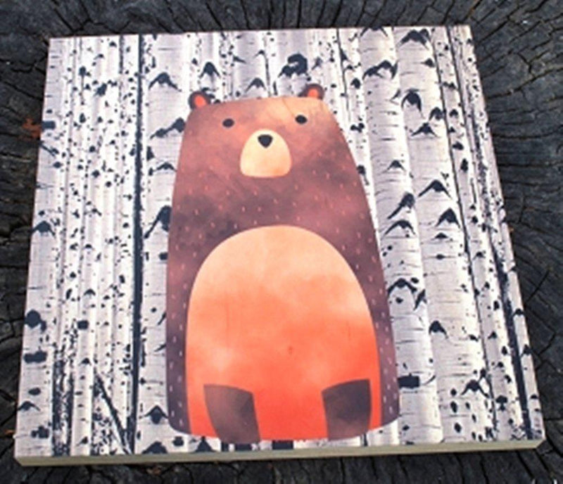 GP Originals Forest Friends Wood Wall Art Plaque, Bear