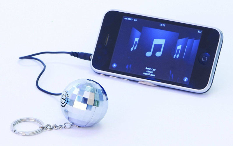 DCI 26508 Disco Ball Speaker and Keychain - Speakers - Retail Packaging - Silver