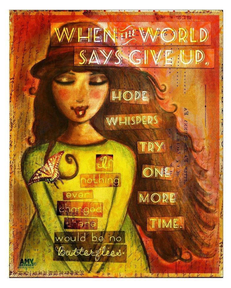 Cathedral Art Wood Plaque, Hope Whispers Designed by Amy Bremner