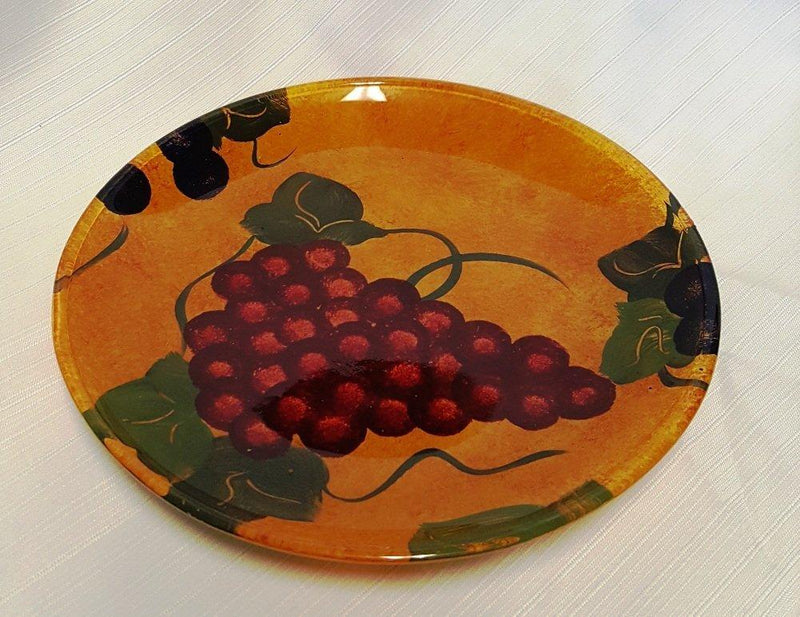 NixNax Tuscany Grapes Plate, Set of 2