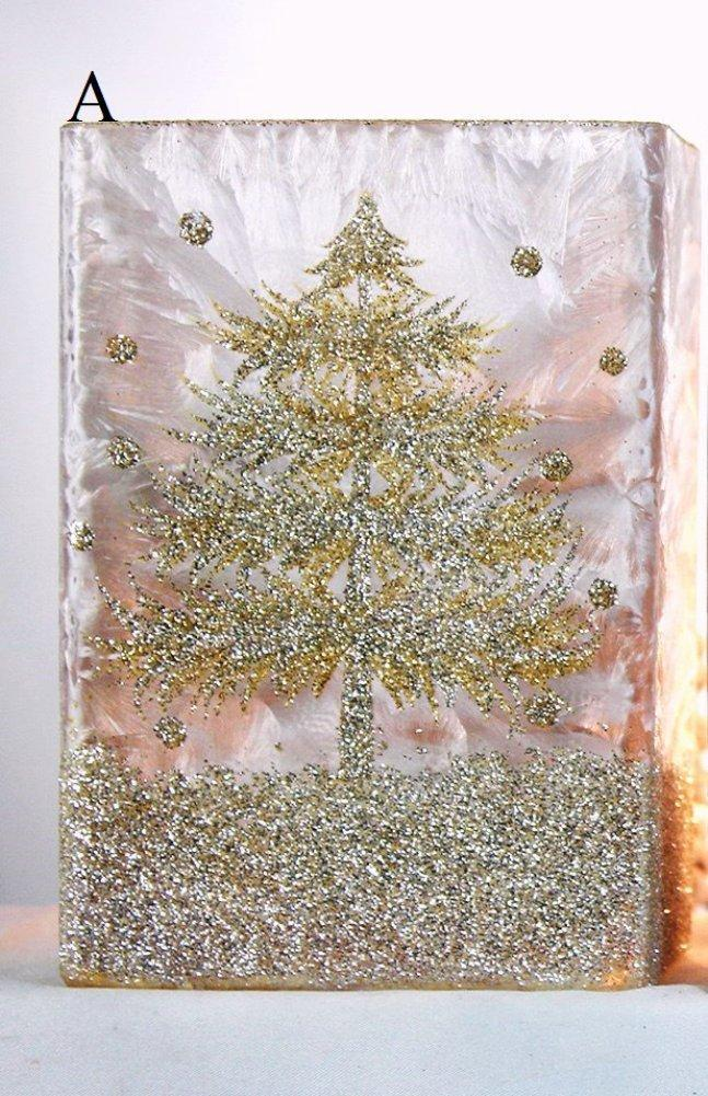 Stony Creek Wonderland Tree Collection Lighted Rectangle Glass Vase, Choice of Style