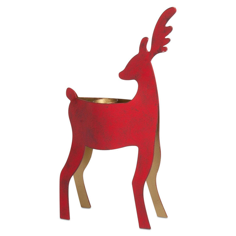 tag Christmas Reindeer Small Taper Holder