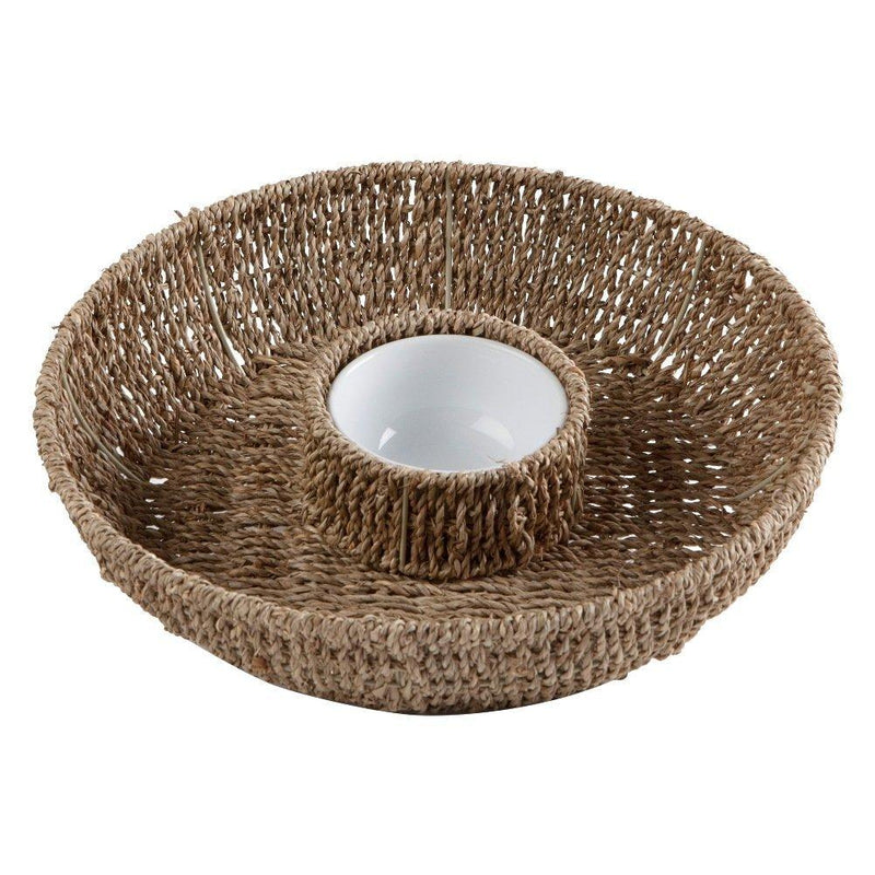 TAG Hamptons Collection Seagrass Chip and Dip Set