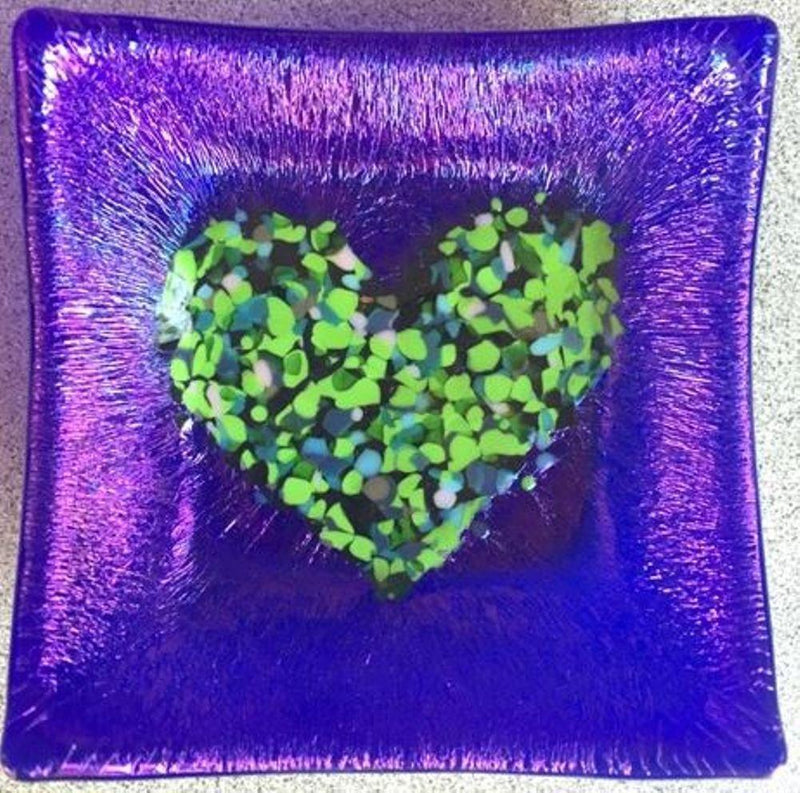 Cocoon Designs Iridized Mini Tray, Heart, Choice of Color - Gifts From A Distance