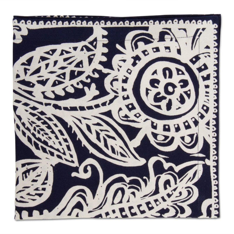 TAG Living Collection Indigo Paisley Napkin, Set of 4