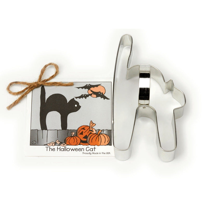 Halloween Cat Cookie and Fondant Cutter - Ann Clark - 5.9 Inches - US Tin Plated Steel