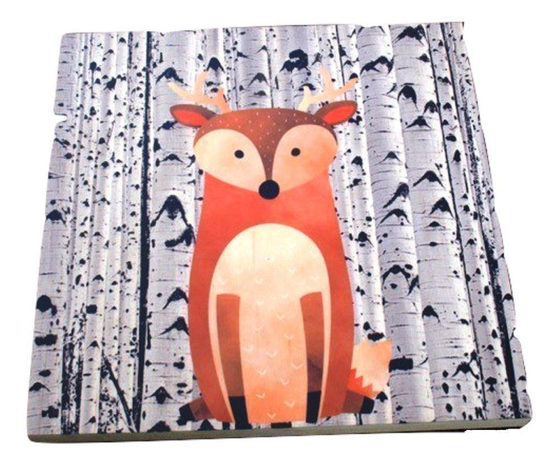 GP Originals Forest Friends Wood Wall Art Plaque, Deer