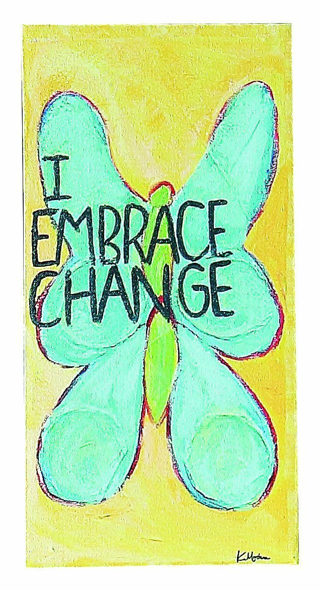 "Creative Co-Op Wonderland ""I Embrace Change"" Canvas Sign - Creative Co-op"