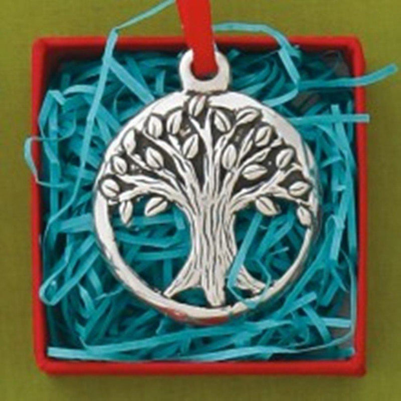 Basic Spirit Tree Jolly Pewter Ornament, Made in Nova Scotia