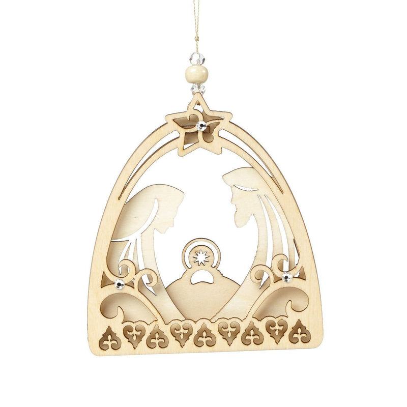 Enesco Flourish Nativity Ornament