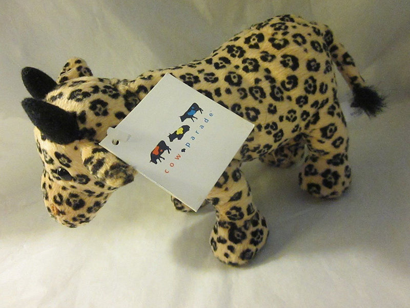 "CowParade ""LEOPARD"" 8"" Cow Plush 2000"