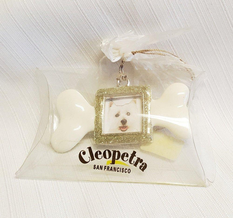 Cleopetra San Francisco Dog Bone Ornament, Choice of Color