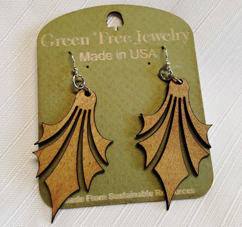 Dropped Point Earrings by Green Tree Jewelry, Made in the USA