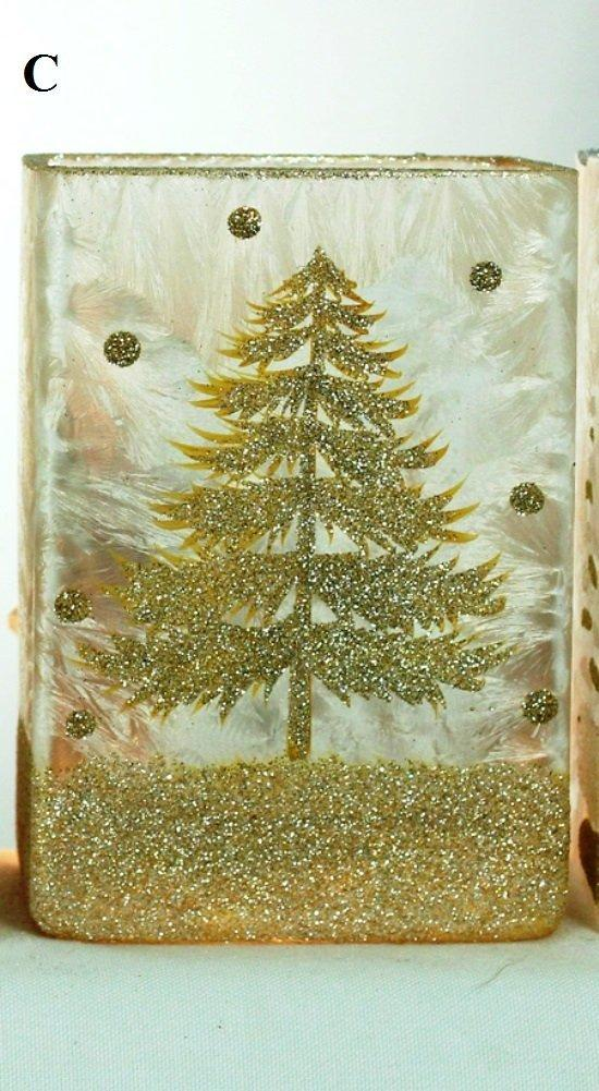 Stony Creek Winter Landscape Collection Lighted Rectangle Glass Vase