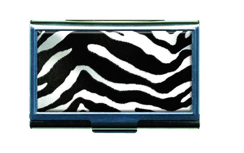 Zebra Animal Print Business Card / Credit Card Metal Case Holder