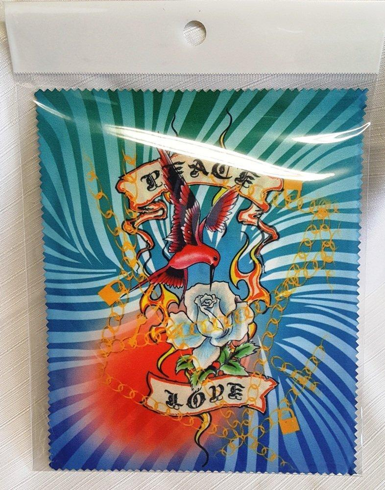 Melbert Microfiber Cleaning Cloth, Made in the USA, Peace & Love