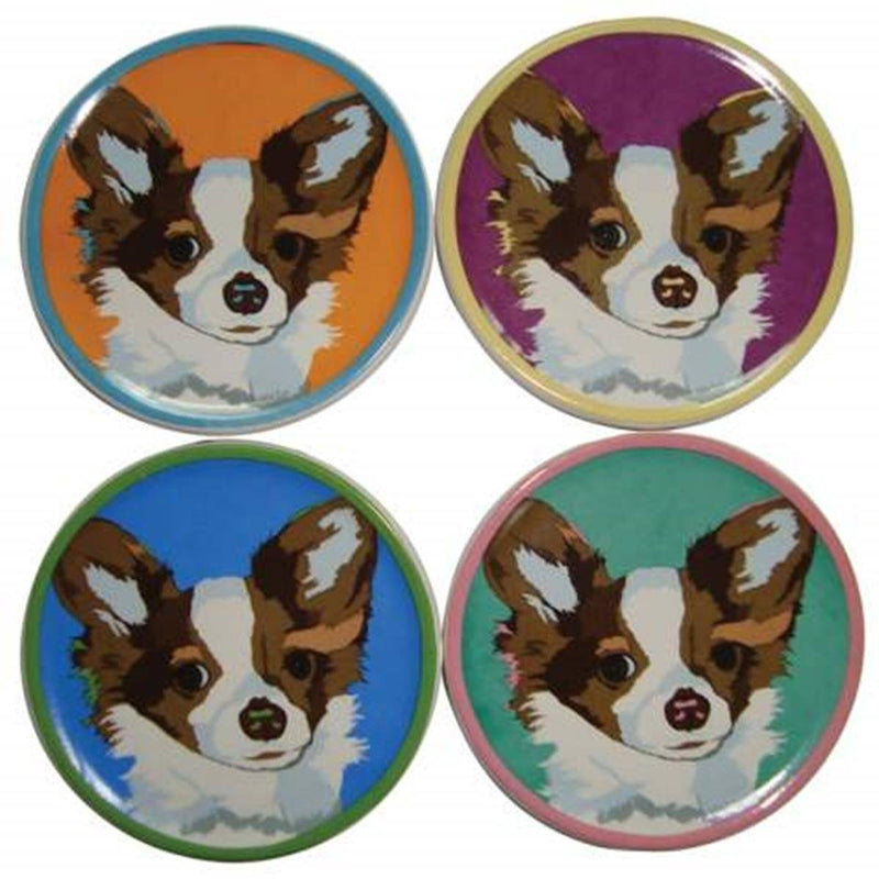 Chihuahua Coasters, Set of 4, Designed by Bill Tosetti for Westland Giftware