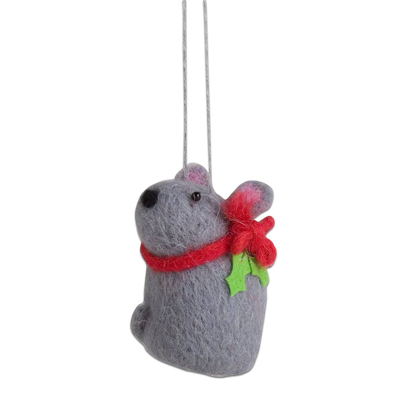 tag Christmas Mouse Woolen Ornament - TAG