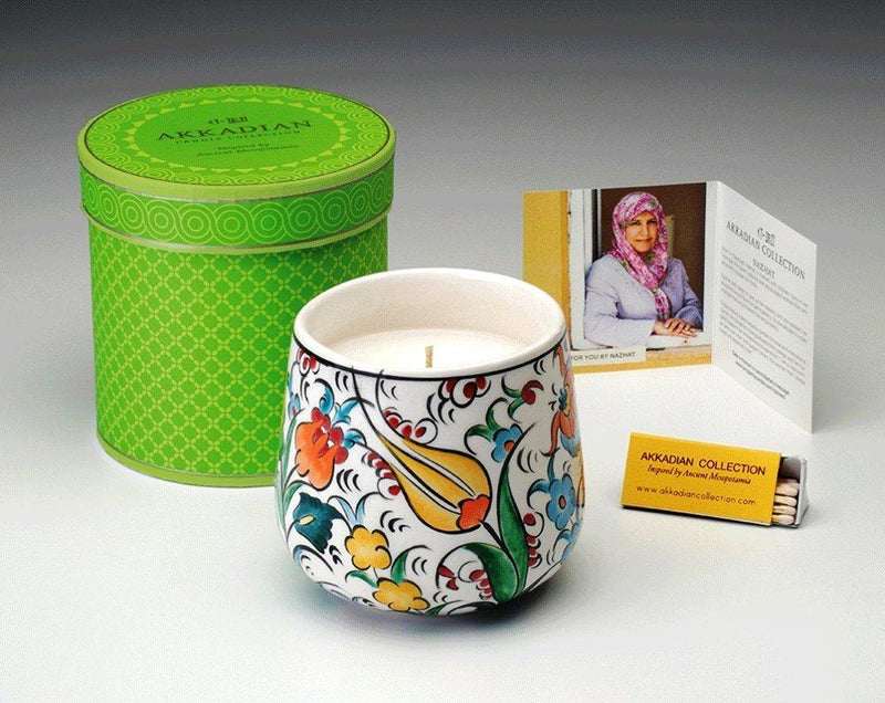 Prosperity Catalyst Akkadian Collection Garden of Eden Handpainted Candle