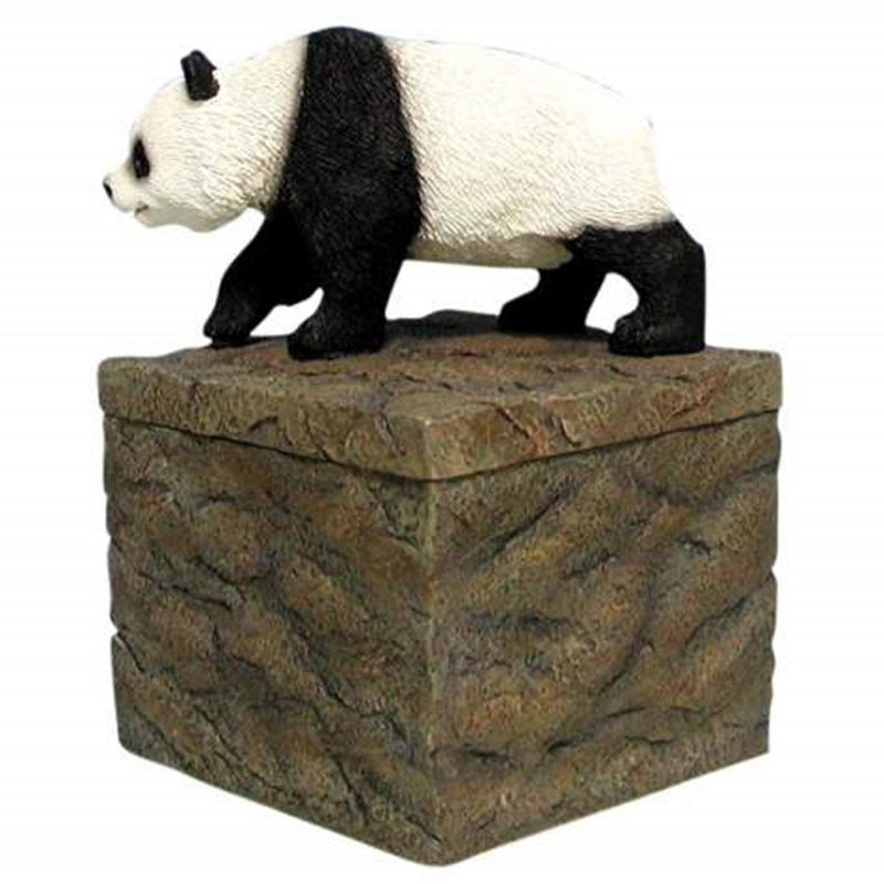 Walking Panda Bear On Rock Box Collectible Candle Holder