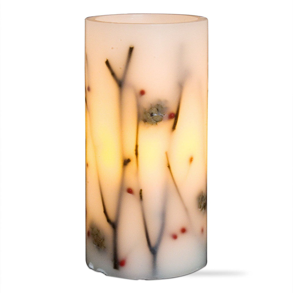 Tag LED Pinecone Pillar Candle