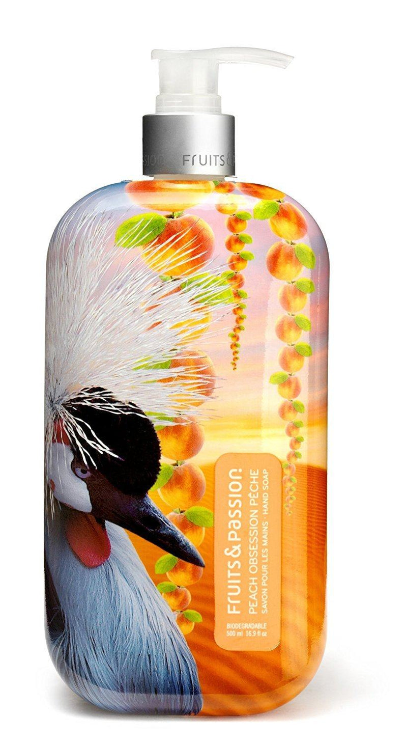 Fruits & Passion Imagine Hand Soap, Peach Obsession, 16.9 ounce Pump Bottle