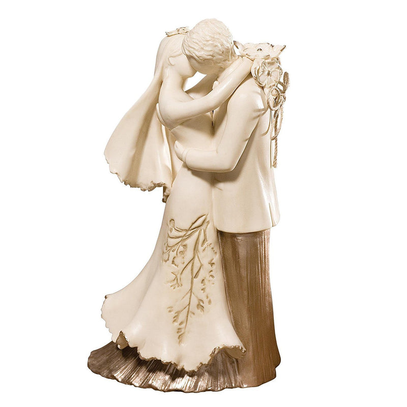Enesco Nature's Poetry Bride and Groom Memory Keeper Figurine, 7-Inch