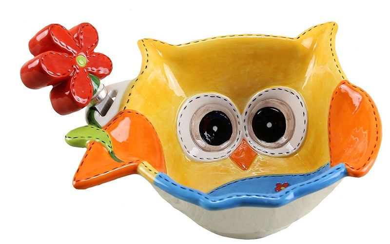 Young's Ceramic Owl Bowl with Spreader