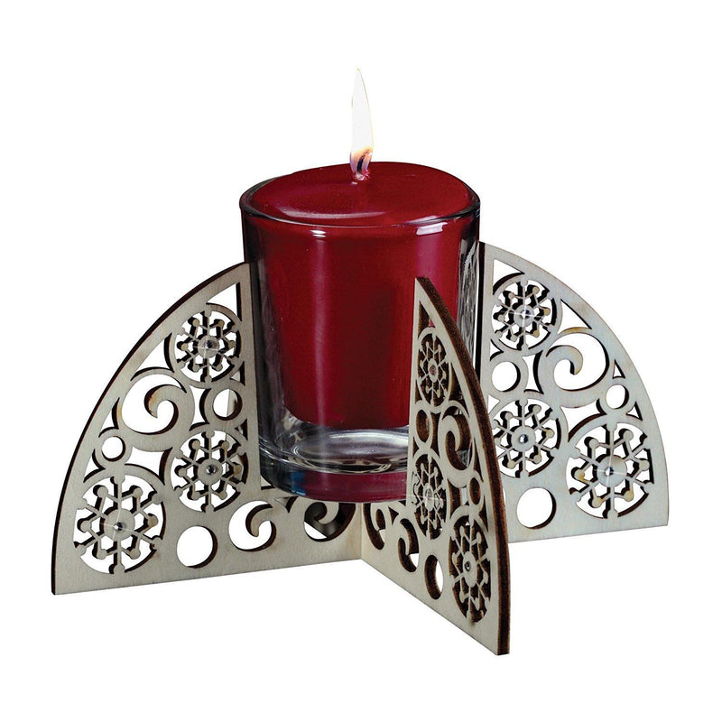 Enesco Flourish Snowflake Votive Candle Holder, 3.25-Inch